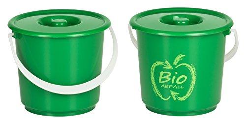 Haushaltsdose Bioeimer Biomülleimer Komposteimer 2er Set 2,7l