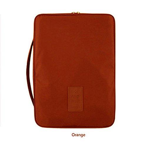 paño de malla de múltiples funciones de Oxford recorrido al aire libre impermeable portable del bolso Camiseta Bolsa de almacenamiento de Corea del estilo, Naranja Orange