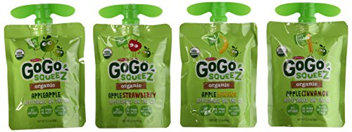 GoGo Squeez Organic Applesauce Variety 20 Count, 3.2 Ounce