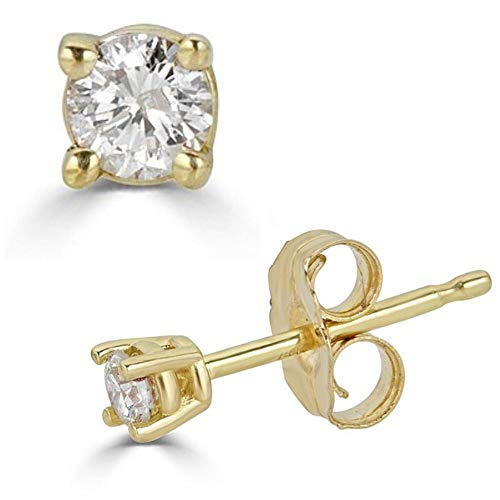 White Yellow Diamond Earrings Certified product image