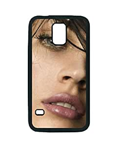 HOT SEXY MEGAN FOX ~ Fashion Durable Unique RUBBER Durable Case Cover Skin for Samsung Galaxy S5 i9600 - Black Silicone Case / ABCone Tpu Protective S5 Case