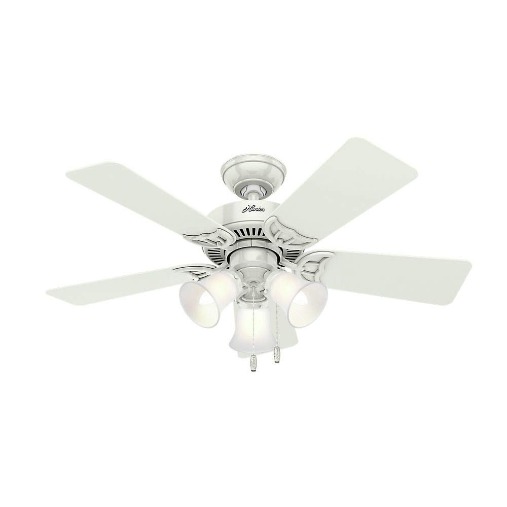 Best Rated In Ceiling Fans Helpful Customer Reviews Your Biggest Fan Installing A Light Kit On An Existing Hunter 51010 Southern Breeze 42 Inch White With Five Bleached Oak