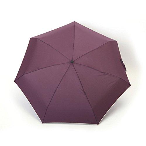 FakeFace® Nylon Ultra Leicht und Dünn Regenschirm Sonnenschirm 5 Stufen Faltbar UV-Schutz Schirm Manuell Öffnen für Outdoor Camping (Violett)