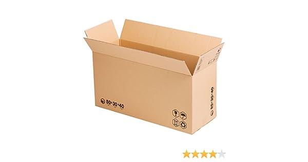 (x10) Pack Cajas de Cartón Largas para Almacenaje (80x30x40 cms) | TeleCajas
