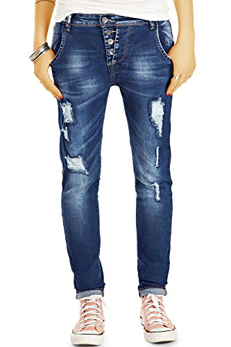 Fonc Femme Baggy Jeans Bleu bestyledberlin WUqgHnR