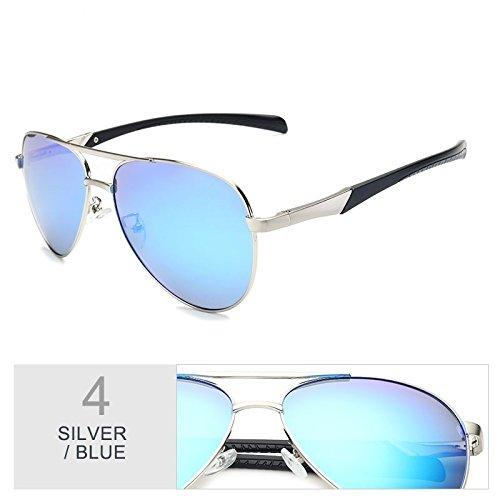 Aviadores De De Los Gafas Hombres Gafas Clásico Color Blue Sol Sol Silver Gafas Silver Silver De De TIANLIANG04 Trajes Guía Polarizadas De Cool 5A0Zxqwpp