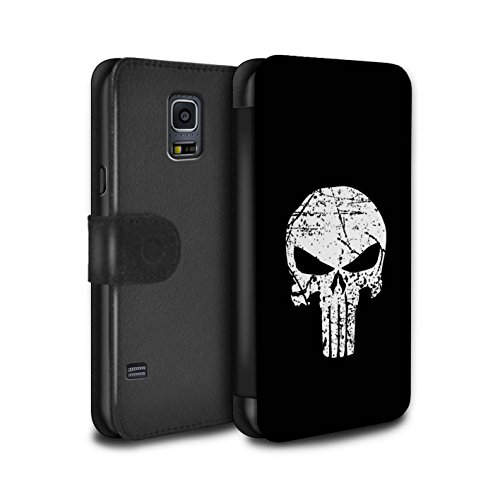 STUFF4 PU Leather Wallet Flip Case/Cover for Samsung Galaxy S5 Mini/Punisher Inspired Art Design/Anti-Hero Comic Art Collection