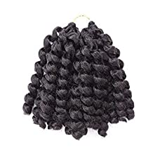 20 Roots. Colour Options. Jamaican Bounce Curl Wand, Jumpy Curly CROCHET Hair (Black)