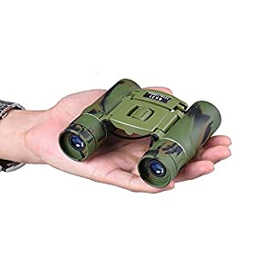 SUPRBIRD Kids Binoculars Compact for Bird Watching, 8x21 Mini Folding Pocket Adults Children Binoculars for Educational Learning, Traveling, Concert, Natural Exploration, Best Gift for Boys and Girls