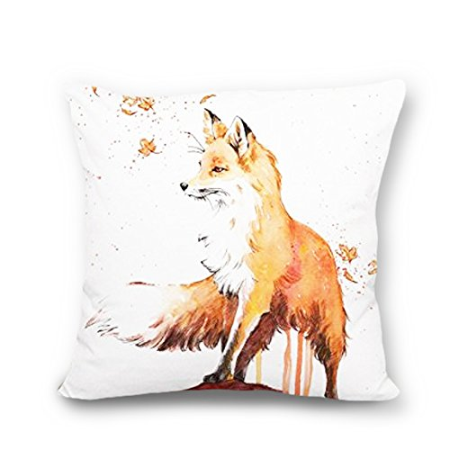 Fox accent Pattern Throw Pillow Covers Decorative Cushion Covers Canvas Pillow (Fox Pillow)