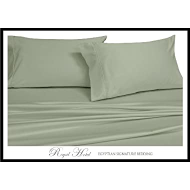 Queen Sage Silky Soft bed sheets 100% Rayon from Bamboo Sheet Set
