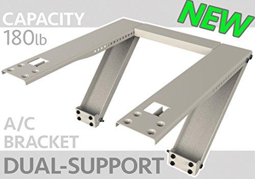 Universal Window Air Conditioner Bracket - Heavy-Duty Window AC Support - Support Air Conditioner Up to 180 lbs. - For 12000 BTU AC to 24000 BTU AC Units (HEAVY DUTY) - Carton Window