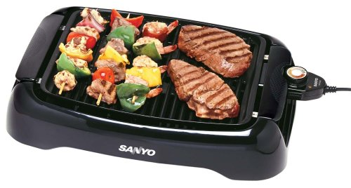 Sanyo HPS-SG2 Indoor Barbeque Grill with 120-Square-Inch Nonstick Cooking Surface (Sanyo Bbq Grill)