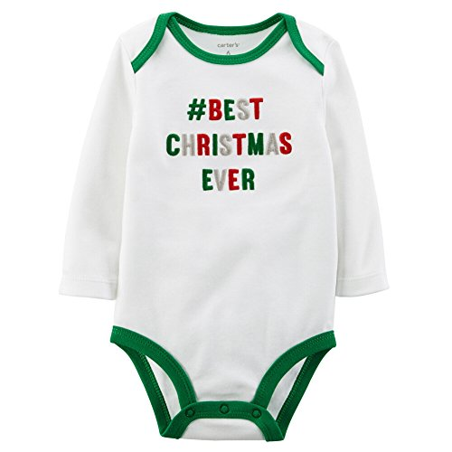 [Carter's Unisex Baby Long-sleeve Christmas Bodysuit (3 Months, #Best)] (Christmas Outfit)