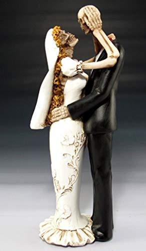 Figurine Skeleton Wedding Still in Love Bride Groom Collection Statue Halloween]()