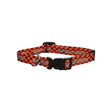 bc033a342 Image Unavailable. Image not available for. Color  Cleveland Browns Medium Pet  Dog Collar ...
