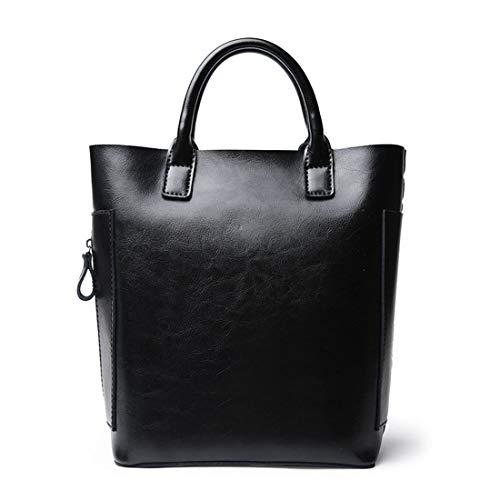 Sac Bandoulière Bag Cuir Capacité À Magai Wild Leisure Seau En Black Brown color Diagonal Grande YxPwPd