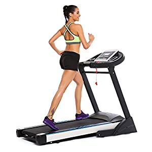 ANCHEER 3.0HP S6200 Folding Electric Treadmill, 10.1 Inch WIFI Color Touch Screen Treadmill