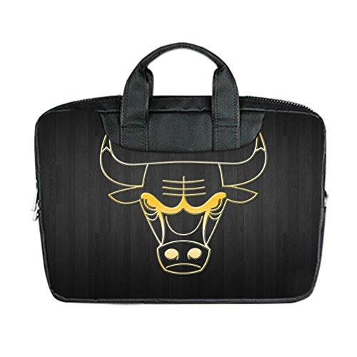 JIUDUIDODO Custom Chicago Bulls Nylon Waterproof Bag Computer Bag Handbag for Laptop 13
