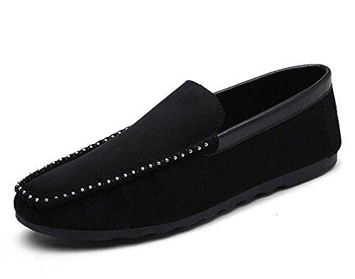 SHIXR Chaussures de printemps pour hommes de pieds Chaussures de pois pour hommes Chaussures de sport pour dames , black , 43