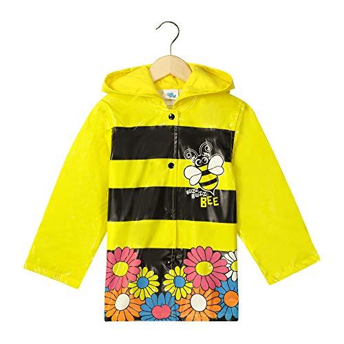 Little Girl's Yellow Bumble Bee Sunflowers Raincoat - Size ()