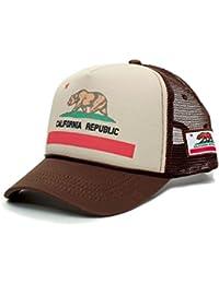 835f403238c57 Custom California Republic State Flag Cali Unisex-Adult Trucker Hat Multi