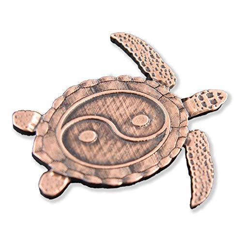 Creative Pewter Designs Yin Yang Sea Turtle Copper Plated Lapel Pin, Brooch, Jewelry, GC064