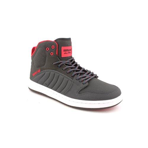SUPRA Shoes S1W, color gris oscuro-rojo/gris/blanco Gris - gris