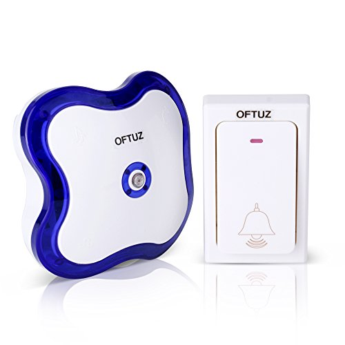 OFTUZ Wireless Waterproof Doorbell Chimes Kits with 4 Levels Volume 36 Loud Doorbell Melody Chimes LED Flash (Blue)