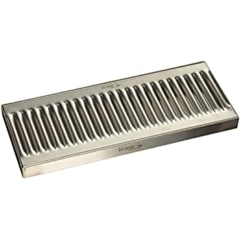 Krome Dispense C612 Stainless Steel Wall Mount Drip Tray Surface 12 x 5 No Drain 1.2