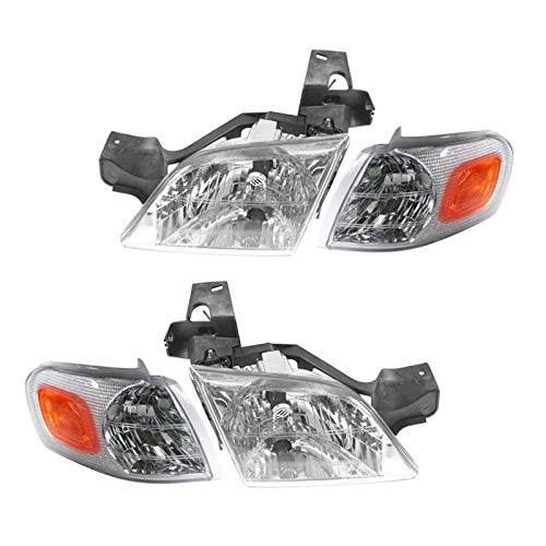 Headlight & Parking Corner Light Left & Right Pair Set for Chevy Venture Montana