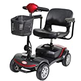 Heavy Duty Scooter,Light and Compact, Foldable,4 Wheel Power Electric Travel and Mobility Scooter,Adjustable Seat,Black