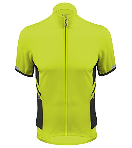 AERO|TECH|DESIGNS Elite Recumbent Bicycle Jersey - Made in USA (Large, Safety Yellow)