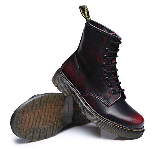 Sport Bottes À Velours Martin Vin Lacets Flattie Classiques Rouge Chaussures Ubeauty Boots Femme Bottines wXdSzqz