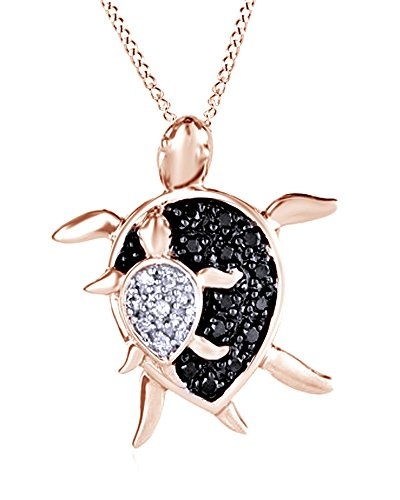 round-cut-black-white-natural-diamond-mother-and-baby-turtle-pendant-in-10k-rose-gold-008-cttw