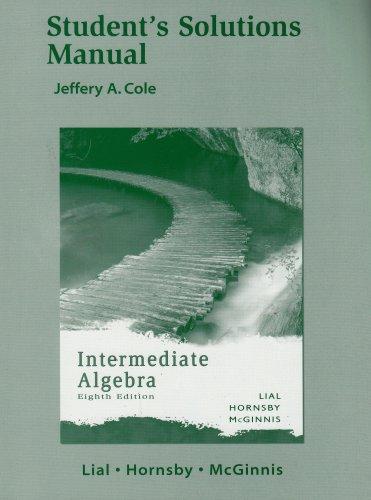 Intermediate Algebra - Student's Solutions Manual