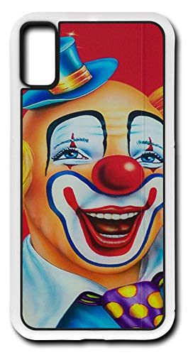 iPhone Xs Case Clown Happy Make Up Circus Birthday Party Customizable by TYD Designs in White Rubber ()