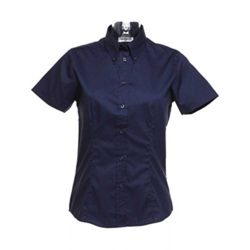 Oxford Mid Kustom Kit Short Sleeve Navy Ladies Shirt HqwxwEpZB