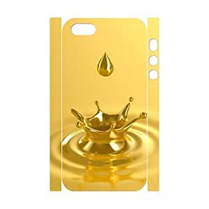 3D Cute For SamSung Galaxy S5 Phone Case Cover Liquid Gold for Men, For SamSung Galaxy S5 Phone Case Cover Men [White]