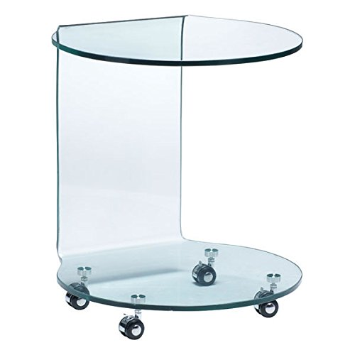 Glass Mission End Table (Zuo Modern Mission Side Table Glass, Clear)