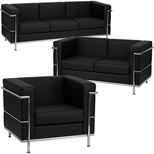 Cheap  Flash Furniture HERCULES Regal Series Reception Set in Black