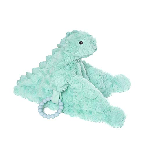 Manhattan Toy Little Jurassics Chomp Dino Baby Soothing Blankie with Removable Silicone Teether