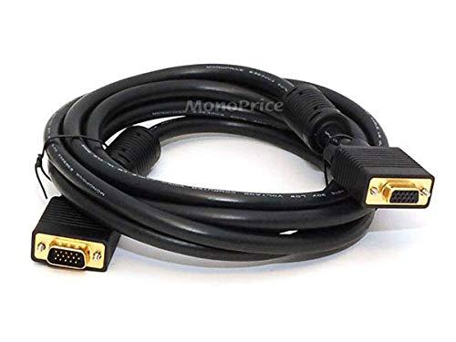 Monoprice 10ft SVGA Super VGA M/F Monitor Cable w/ ferrites ()