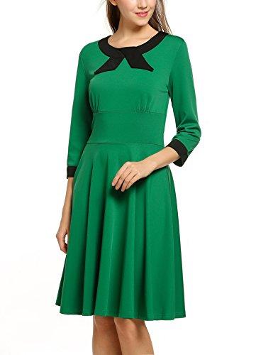 ACEVOG-Womens-1950S-Vintage-Rockabilly-Elegant-34-Sleeve-Evening-Dress-for-Party-Wedding