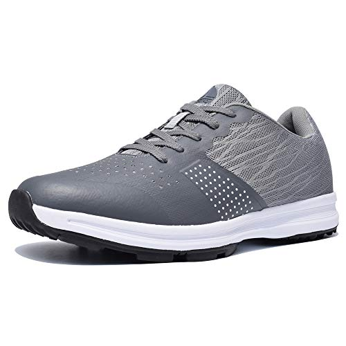 Thestron Men's Golf Shoes Walking Sneakers Training Sports Golf Shoe ... Grey (Best Spikeless Golf Shoes For Walking)