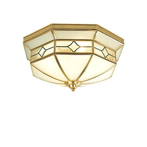 Mount Projector Flush Ceiling Plate (HZB Full Copper European Bedroom Ceiling Lamp Modern Simple Room Light American Room Light Compact Lamp Warm ( Size : 4lamp4514cm ))