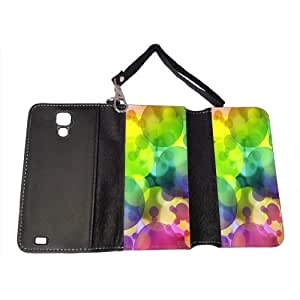 Rainbow Bubbles - Samsung S4 Leather Wallet Case