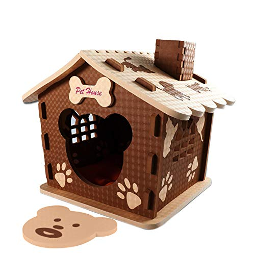VBM Dog House – Dog Houses for Small and Medium Dogs – Pet House for Indoors and Outdoors – Lovely Paw Prints Design…