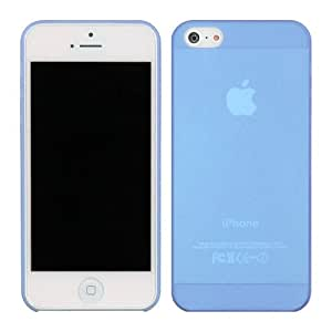 Ganbol Original 0.2mm Ultra Thin Protective Clear Transparent Back Case Cover for Apple iPhone 5 Blue