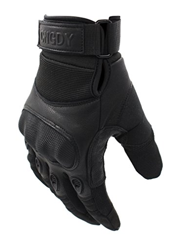 Touch Screen Adjustable Wrist Military Combat Tactical Gloves Durable Shooting Hiking Hunting Motorcycle Racing Airsoft Gloves Hard Knuckle Army Outdoor Full Finger Black(Size XL)